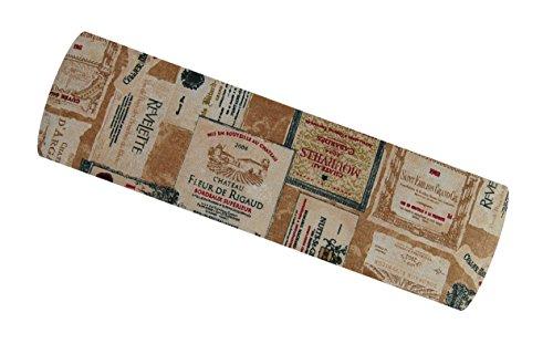 beties Rustika Nackenrollen Bezug ca. 15x40 cm in großer Artikel-Auswahl für ein gemütlich warmen Einrichtungsstil Farbe (camel-burgund)