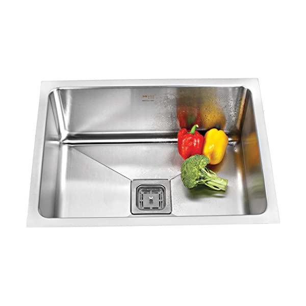 "SILVER LINE Stainless Steel Grade 304 Kitchen Sink (24""x18""x10""Low Radius)"