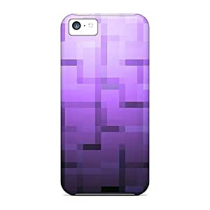 Anti-scratch And Shatterproof Abstract Purple Phone Case For Iphone 5c/ High Quality Tpu Case
