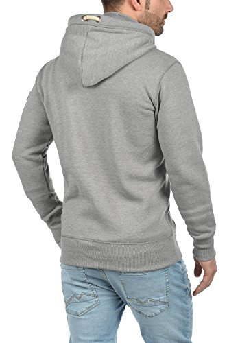 Sweat polar capucha Zip con gris hombre 8242 Melange Chaqueta forrada Sudadera Tripzip claro Zip con de 5Yq1F8wx