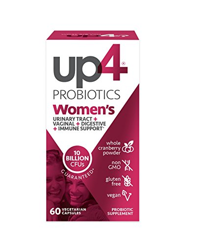 up4 Women's Advanced Care Probiotic Supplement | Vaginal Health + Digestive + Immune Support* | 25 Billion CFUs Guaranteed | Non-GMO, Gluten Free, Vegan | 60 Vegetarian Capsules
