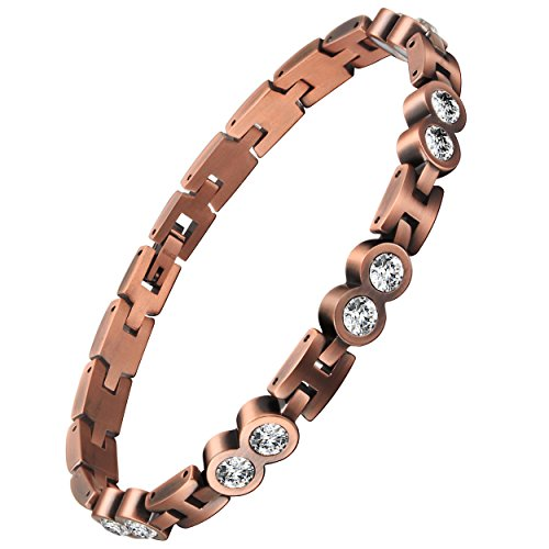 VITEROU Womens Magnetic Pure Copper Anklet Bracelet with Magnets Pain Relief for Arthritis,3500 Gauss
