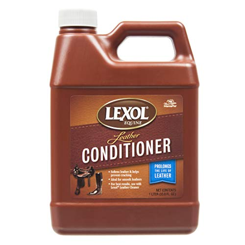 Lexol Leather Conditioner 1L Bottle, For Use on Leather Apparel, Furniture, Auto Interiors, Shoes, Handbags and Accessories