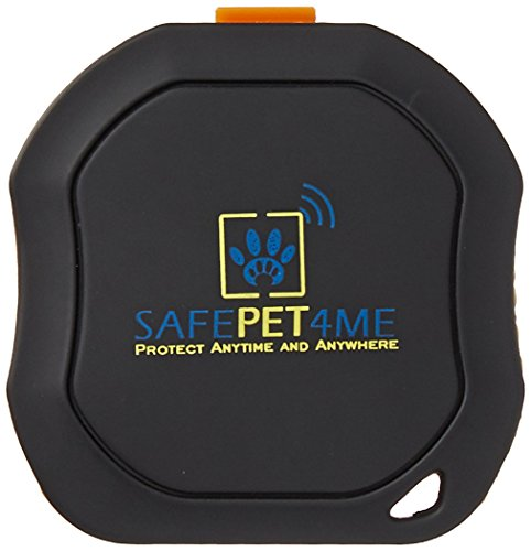 SAFEPET4ME Waterproof Pet GPS Trackers, Black