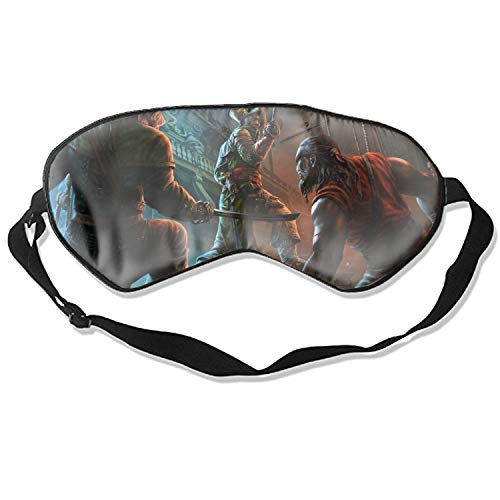 Sleep Mask Fantasy Pirate Sword Warrior Ship Men Knife Eye Cover, Soft & Comfortable Blindfold for Total Blackout & Light Blocking, Best Gift for Women & Men, Ultimate Sleep for Travel & Night Sleep ()