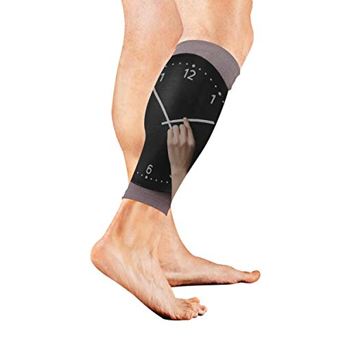 YKNFIS Classic Clocks and Watches Compression Calf Sleeves Leg Compression Socks Compression Leg Sleeves for Shin Splints & Calf Pain Relief Perfect for Men & Women Runners Cycling - 1 -