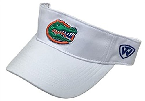Top of the World NCAA Florida Gators Hawkeye Mfit Visor, One Size, White ()