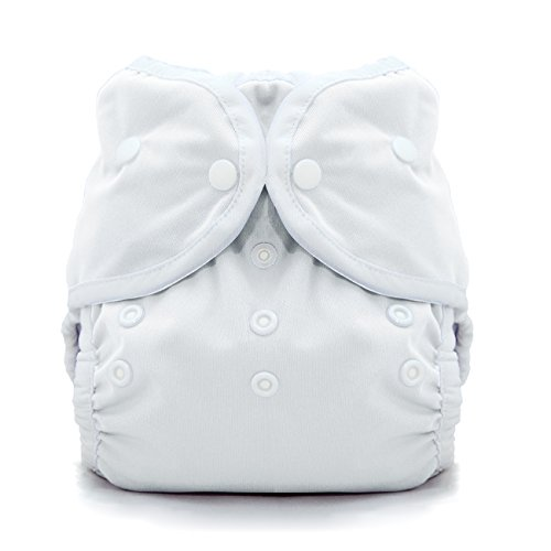Thirsties Duo Wrap Cloth Diaper Cover, Snap Closure, White Size 2 (18-40 Pound)