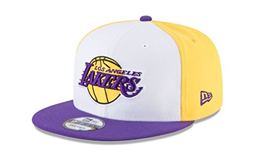 Los Angeles Lakers New Era Team Retro Wheel Snapback Hat by New Era