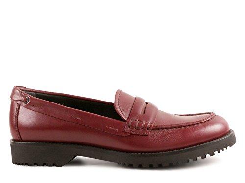 Car Shoe Mujer KDD02K3A6FF0007 Burdeos Cuero Mocasín