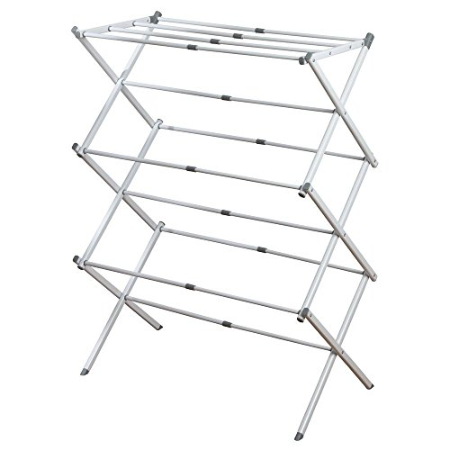 InterDesign Brezio Expandable Clothes Drying Rack for Laundr
