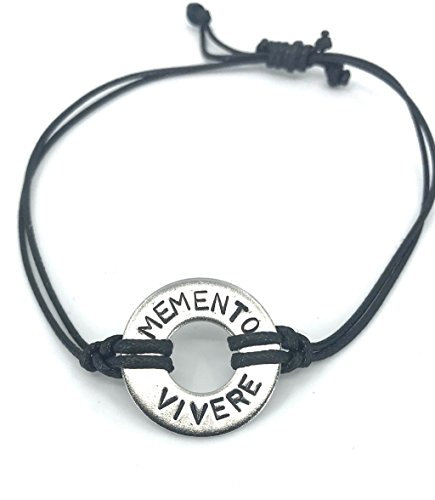 Memento Vivere - Latin Phrase Washer Bracelet - Similar to MyIntent (Phrase Maker)