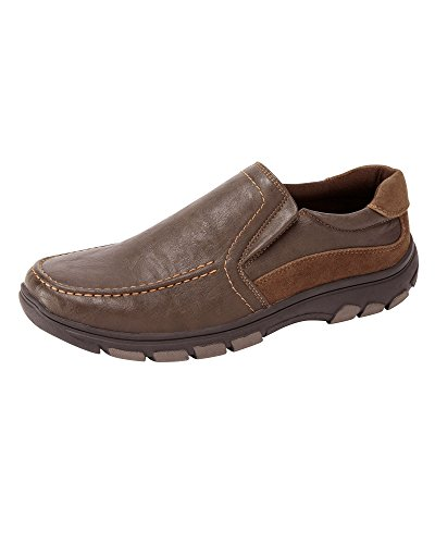 Cotton Traders Mens Cushion Comfort Slip-on Shoes E Fit Brown KzkNTWQa