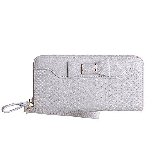 MAVERCE Wallets Women Zipper RIDF Bifold Genuine Leather Women Wallet Multi Card Case Organizer Lady Clutch Long Purse