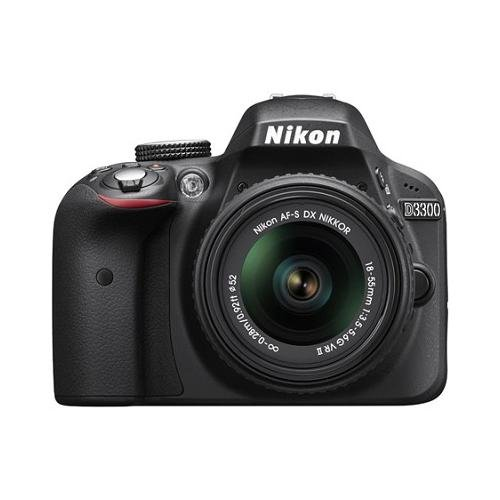 Nikon D3300 24.2 MP CMOS Digital SLR with AF-S DX NIKKOR 18-55mm f3.5-5.6G VR II Zoom Lens (Black) (Certified Refurbished)