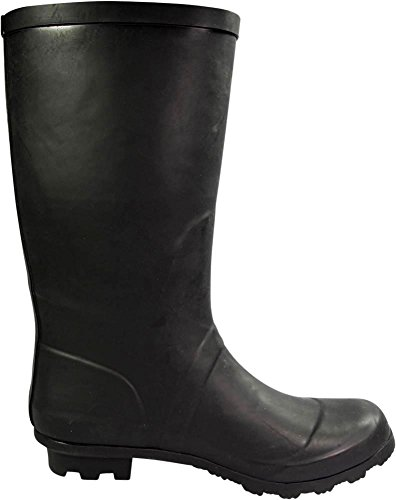 Matte Wellie Solids Mid Black Matte Rainboots amp; Glossy Prints Women's 14 and Hurricane NORTY Waterproof Calf EHnxC6PIq