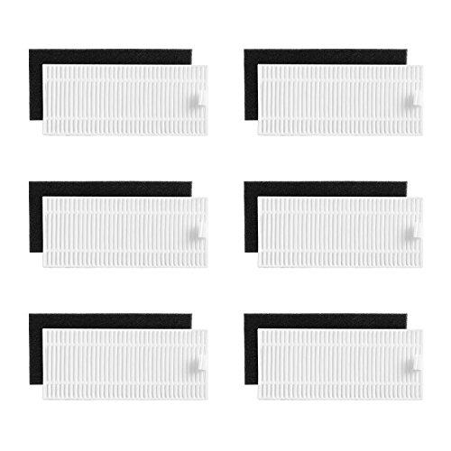 eufy RoboVac Replacement Filter Set, RoboVac 11S, RoboVac 15T, RoboVac 30, RoboVac 30C, RoboVac 15C, RoboVac 12, RoboVac 35C Accessory