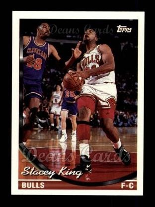 (1993 Topps # 128 Stacey King Chicago Bulls (Basketball Card) Dean's Cards 8 - NM/MT)