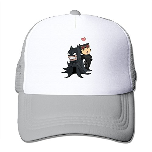 OwperD Unisex Ash Batman And Catwoma Adjustable Baseball Trucker Caps One Size