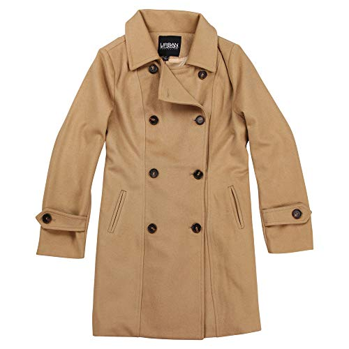 (Urban Boundaries Women's Wool Blend Double Breasted Pea Coat (Camel, XX-Large))