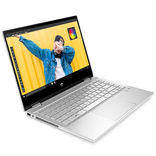 HP Pavilion x360 core i5 10th Gen 14 inch FHD Touchscreen Laptop with Alexa Built-in (8GB/512GB SSD/Windows 10/MS Office 2019/Finger Print Reader/4G LTE/Natural Silver/1.61kg), 14-dw0069tu