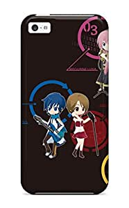 Awesome Case Cover/iphone 5c Defender Case Cover(headphones Vocaloid Hatsune Miku Blue Megurine Luka Chibikaito Vocaloid Kagamine Rin Kagamine Len Shortmeiko)