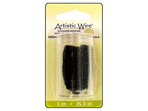 Artistic Wire, Wire Mesh, 1 Meter, Black, 10-Millimeter (Tube Mesh Wire)