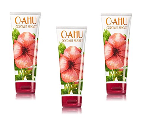 Sunset Linen - Bath & Body Works Oahu Coconut Sunset Ultra Shea Body Cream Pack of 3