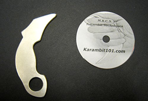 Aluminum-Kerambit-Tiger-Claw-Silat-Trainer-Knives-Karambit-Training-DVD-Video-Serak