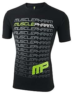 Musclepharm Men's 407 Crew Neck T-Shirt - Black, Large
