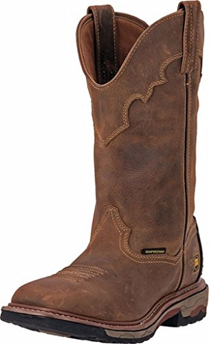 Dan Post Mens Saddle Tan Cowboy Boots Leather Broad Square Toe 16 D