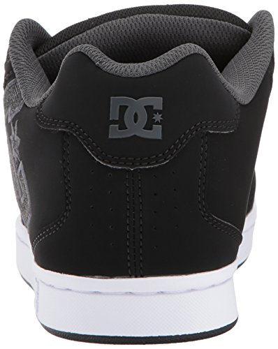 Mens DC Net SE Skate Shoe, Black/Grey, 9 D D US