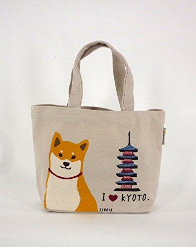Mini-Tragetasche Innentasche,Shopper Shiba-Hund mit KYOTO NarumiKK Narumi
