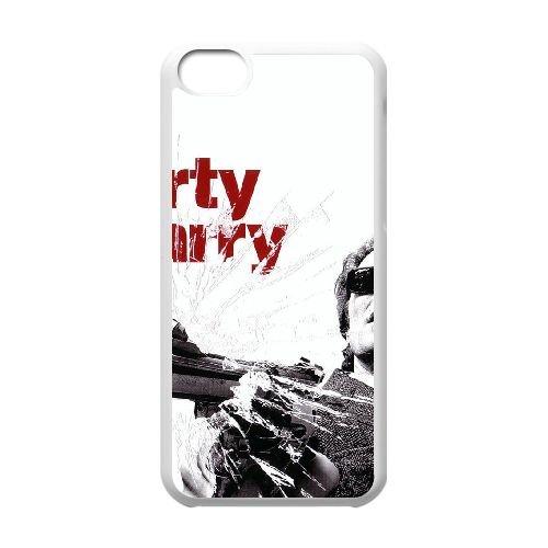 L8S05 Dirty Harry Haute Résolution Affiche C5Z8UR cas d'coque iPhone de téléphone cellulaire 5c couvercle coque blanche WY5Acoque LG4DQ