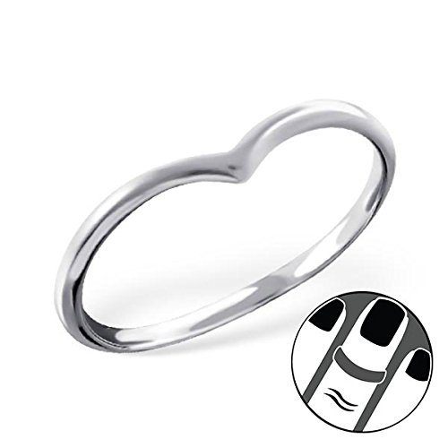 Pro Jewelry 925 Sterling Silver Pointed Above Knuckle Ring Mid Finger Top 6415