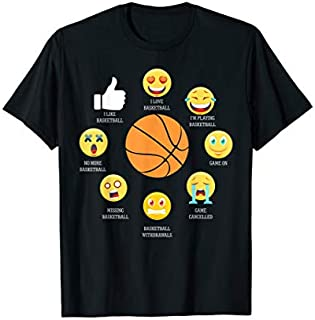 ⭐️⭐️⭐️ I Love Basketball Emoji  Basketball Lover Gifts Outfit Need Funny Short/Long Sleeve Shirt/Hoodie