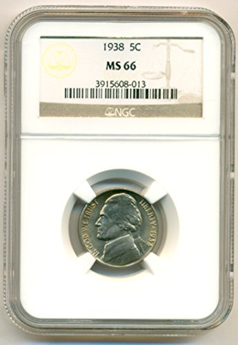 1938 Jefferson Nickel MS66 NGC