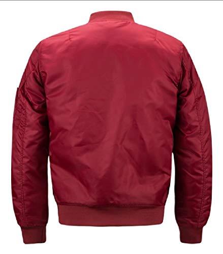 Fit Sleeve Bomber Windbreaker Lightweight Men's Gocgt Slim Red Long Jacket Active Ew06FgqO