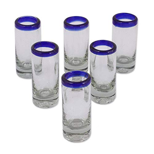 NOVICA Hand Blown Tequila Shot Glasses