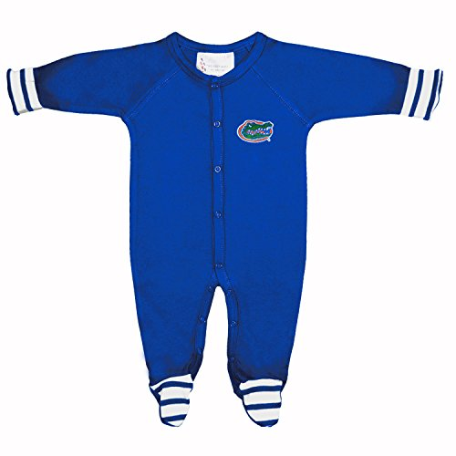 Two Feet Ahead NCAA Florida Gators Infant Stripe Footed Creeper, 6 Months, Royal