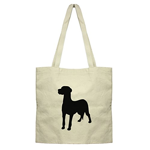 - Flat Market Bag Canvas Tote Great Dane Silhouette By Style In Print