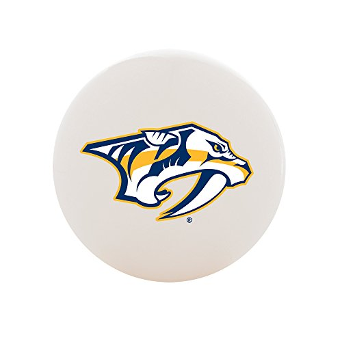 Nashville Predators Hockey Stick - Franklin Sports Nashville Predators Street Hockey Ball - White No Bounce High Density PVC Ball w/Team Logo - NHL Official Licensed Product
