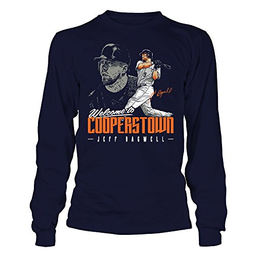 Jeff Bagwell - Welcome To Cooperstown - Gildan Long-Sleeve T-Shirt - Officially Licensed Fashion Sports (Cooperstown Long Sleeve)
