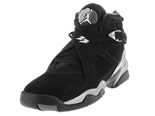 Nike Jordan Kids Jordan Air Jordan 8 Retro Bg Black/White/Lt Graphite Basketball Shoe 6 Kids US by NIKE