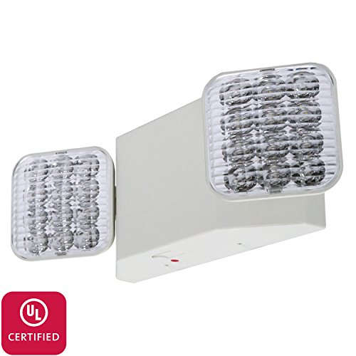 LFI Lights - UL Certified - Hardwired LED Standard Emergency Light - Square Head - ELW2 by Light Fixture Industries