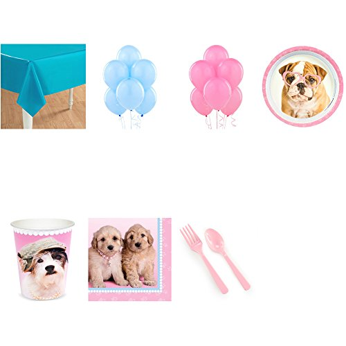 - BirthdayExpress Glamour Dogs Party Supplies Pack for 16 with Balloons