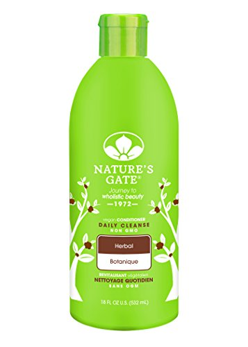 Panthenol Protein Hair Conditioner (Nature's Gate Natural Herbal Daily Cleansing Conditioner with Jojoba Oil for Healthy Hair, Vegan, Non GMO, Paraben Free, Gluten Free, Soy Free, Cruelty Free, Sulfate Free, 18 Ounce (Pack of 1))