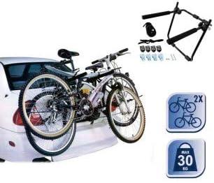Portabicicletas-Soporte bicicletas para maletero de coche (2 ...