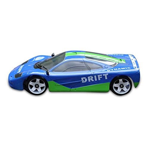 Mini-Z Body Ford Mclaren F1 Style Blue and Green Drift 98MM Body Only ()