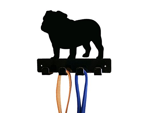 (Bulldog Dog Leash Holder - Wall)